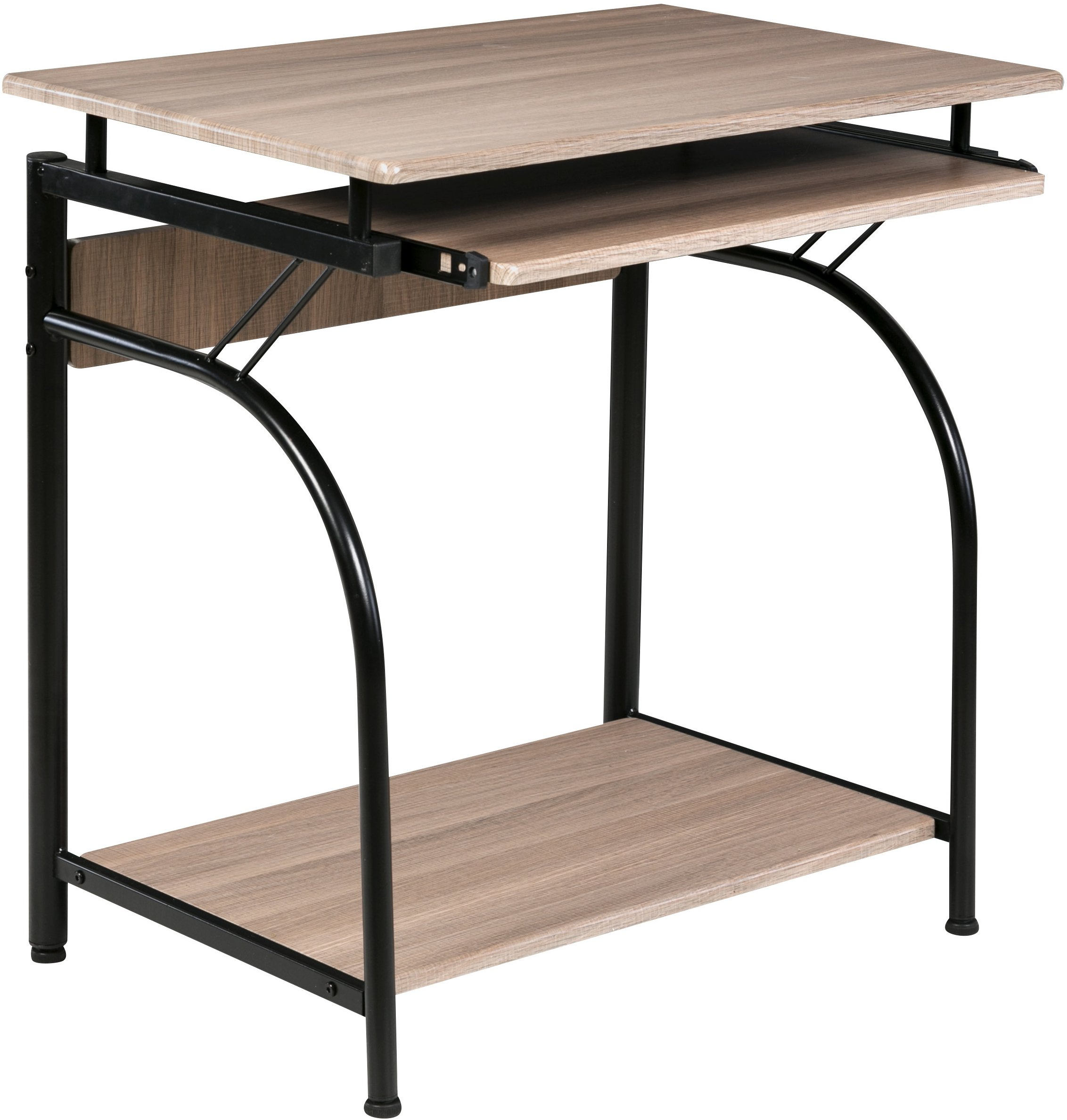 OneSpace 50-1001MP Stanton Computer Desk with Pullout Keyboard Tray, Maple