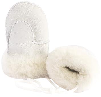 Childs Babies Kids Super Soft Genuine Sheepskin Thumb Mittens Gloves Tan Grey