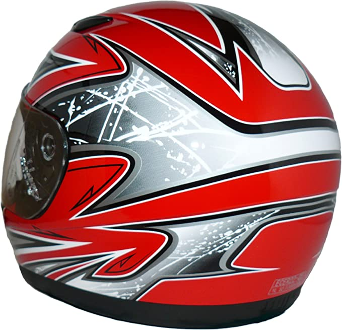 rosso SA03-RT Protectwear motociclo casco del bambini Taglia XS 52//53 cm giovent/ù L