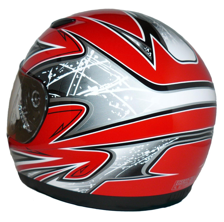 Protectwear SA03 RT XXXS Kinder Motorradhelm Integralhelm Größe XXXS Youth S Rot Silber Amazon Auto