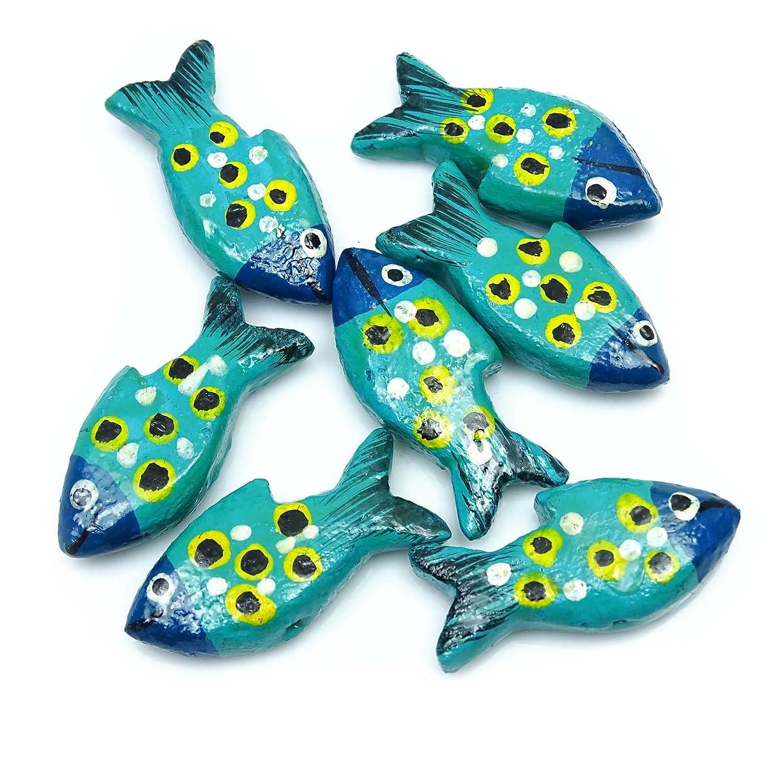 Amazon.com: Hecho a mano pequeña puerta de madera peces ...