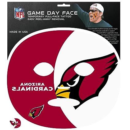 b659eb9c9 Amazon.com   Siskiyou NFL Arizona Cardinals Game Day Face Temporary ...