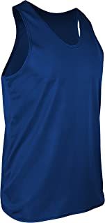 product image for TR-903-CB Men's Athletic Single Ply Solid Color Light Weight Sheer Fabric Track Singlet (X-Large, Royal)
