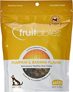 product image for Fruitables Crunchy Pumpkin Blueberry Dog Treat, 7 Ounce - 8 per case.