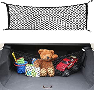 AUTOAC Trunk Net Stretchable Truck Bed Cargo Net Universal Trunk Organizer for Car