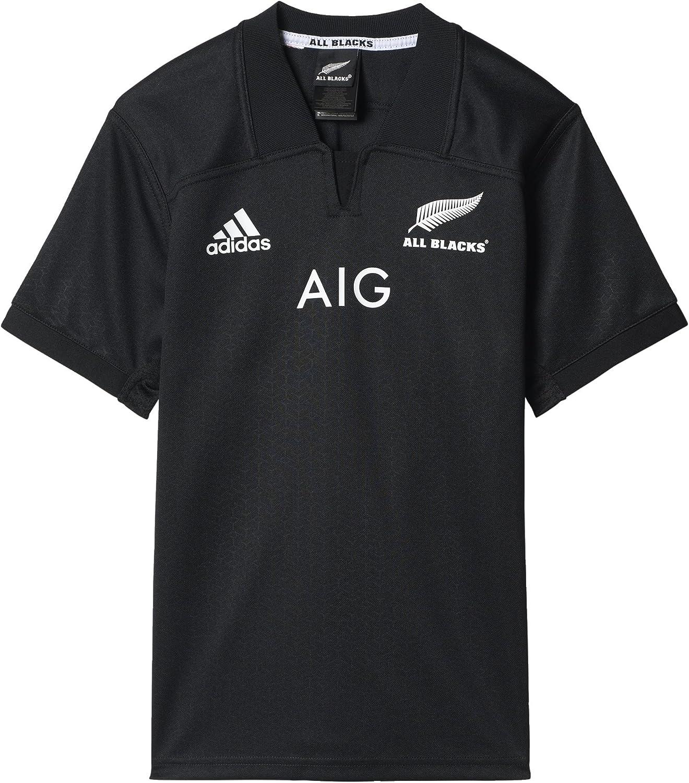 adidas AB H JSY Y Maillot de Domicile All Blacks Équipe Rugby Nueva Zelanda pour garçon