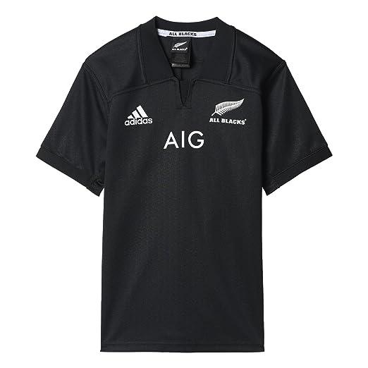 fa98c1fe062 Amazon.com  adidas New Zealand Rugby Home 2016 17 Shirt Junior  Sports    Outdoors