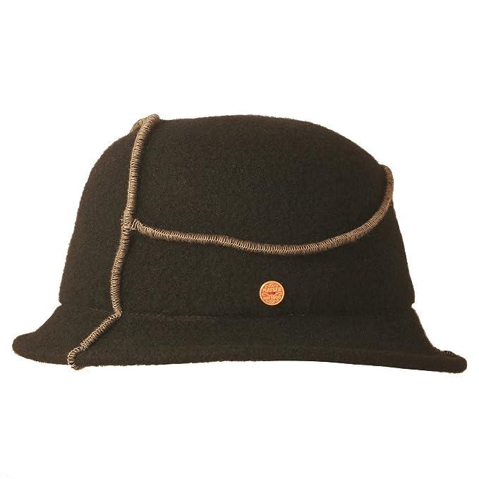 Mayser - Cappello Fedora - Donna nero Small  Amazon.it  Abbigliamento 84722e1d5a94