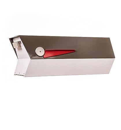 Mid Century Modern Mailbox Modbox Grey White