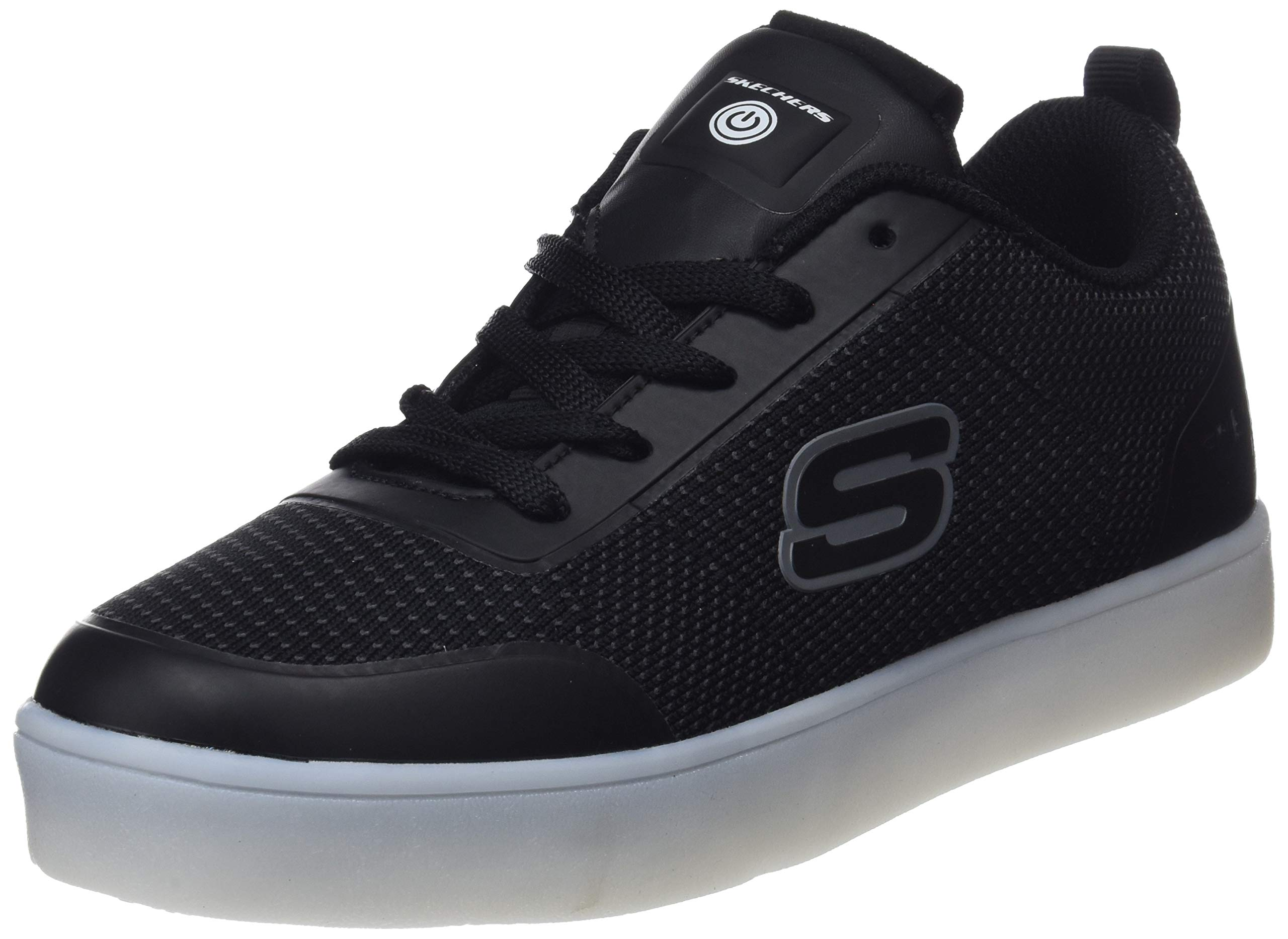 Skechers Kids Boys Energy Lights Sneaker,1 M US Little Kid,Black