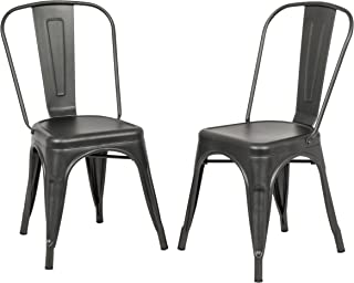 product image for Carolina Chair & Table Monaco Stacking Set of 2 Dining Chair Rustic Pewter