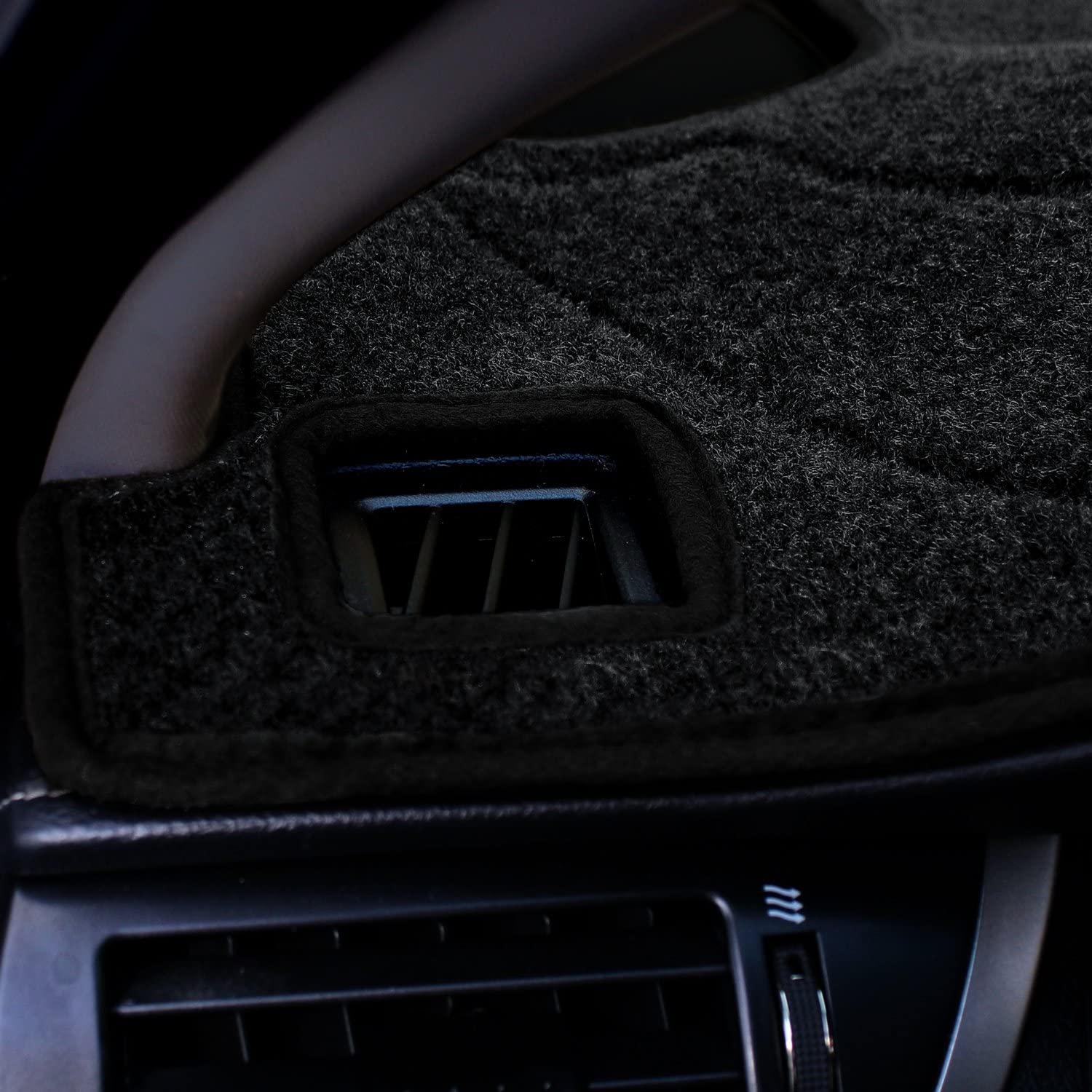 Charcoal Coverking Custom Fit Dashcovers for Select Chrysler Pacifica Models Poly Carpet