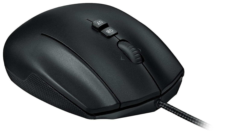 Logitech G600 MMO Gaming Mouse RGB Backlit 20 Programmable Buttons Ohrst/öpsel 4 cm Black