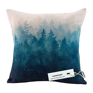 Amazon.com: lazamyasa Forest Scenery estilo lino y algodón ...