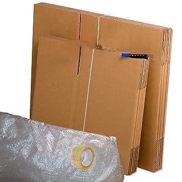Pack Mudanza económico (Cajas de cartón, plástico burbujas, precinto, etc) con todo lo necesario para una mudanza.: Amazon.es: Oficina y papelería