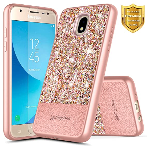 100% authentic 51768 f3904 Galaxy J7 2018 Case, J7 Refine/J7 Crown/J7 Star/J7 TOP J7 V 2nd Gen/J7  Aura/J7 Aero with Screen Protector for Girls Kids Women, NageBee Glitter ...