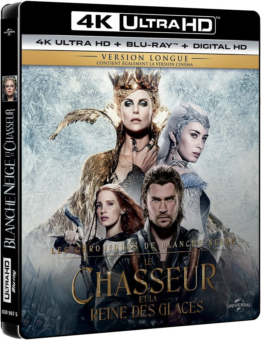 Le Chasseur Et La Reine Des Glaces 4k Ultra Hd Blu Ray Digital Ultraviolet Amazon Fr Chris Hemsworth Charlize Theron Jessica Chastain Emily Blunt Nick Frost Rob Brydon Cedric Nicolas Troyan Chris Hemsworth