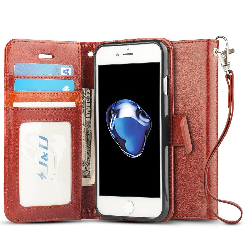 iPhone Funda J D Protección de Cartera Soporte Plegable Funda Pesada Resistentes