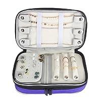 Luxja trapuntato organizzatore di gioielli da viaggio, custodia da trasporto doppio strato di gioielli, nero