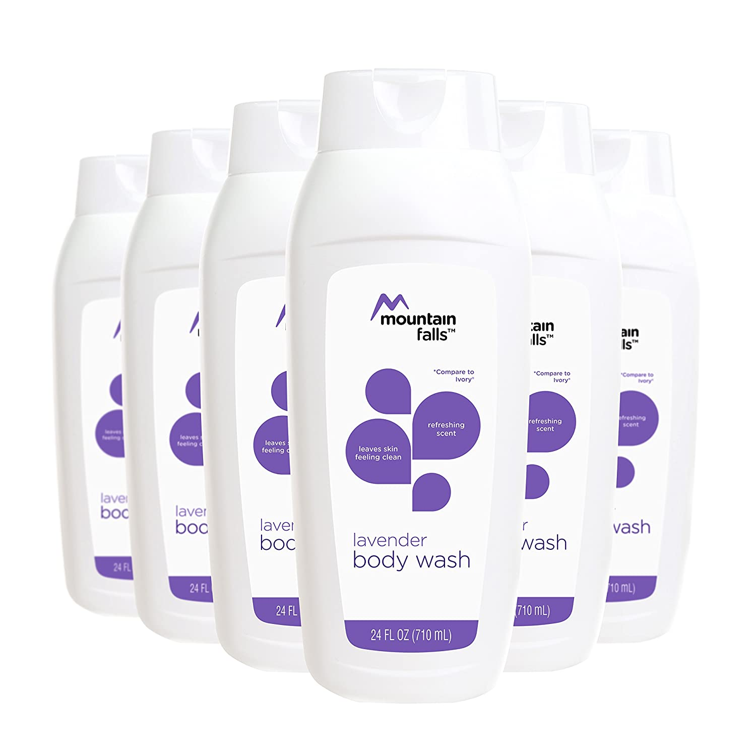 Mountain Falls Body Wash, Lavender, 24 Fluid Ounce (Pack of 6)