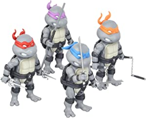 SDCC 2016 Exclusive HeroCross Teenage Mutant Ninja Turtles Mini HMF 4-Pack Set (Black & White Version)
