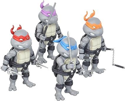 SDCC 2016 Exclusive HeroCross Teenage Mutant Ninja Turtles Mini HMF 4-Pack Set (Black & White Version)