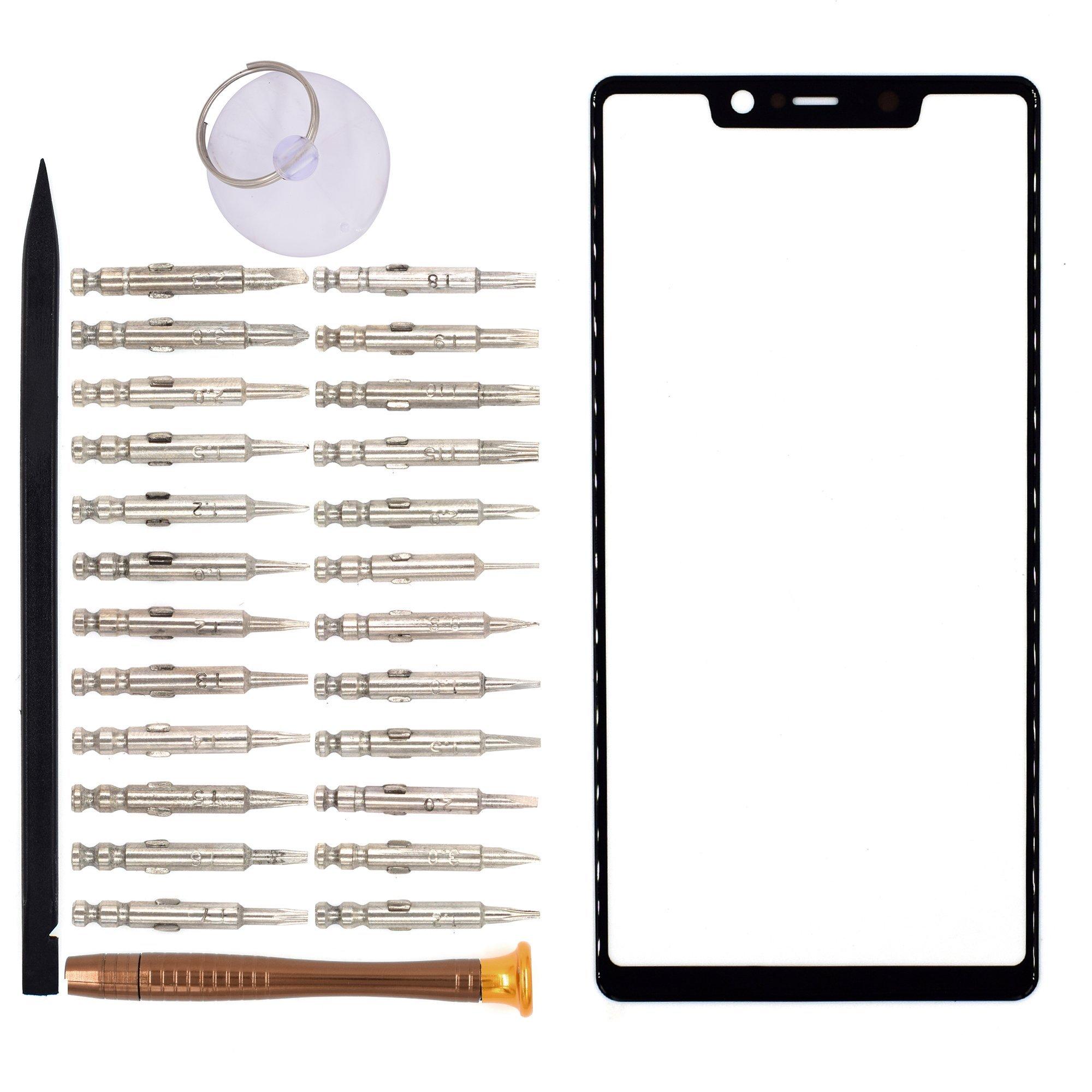 Vidrio Frente para Xiaomi Mi 8 SE negro [GOODYITOU]