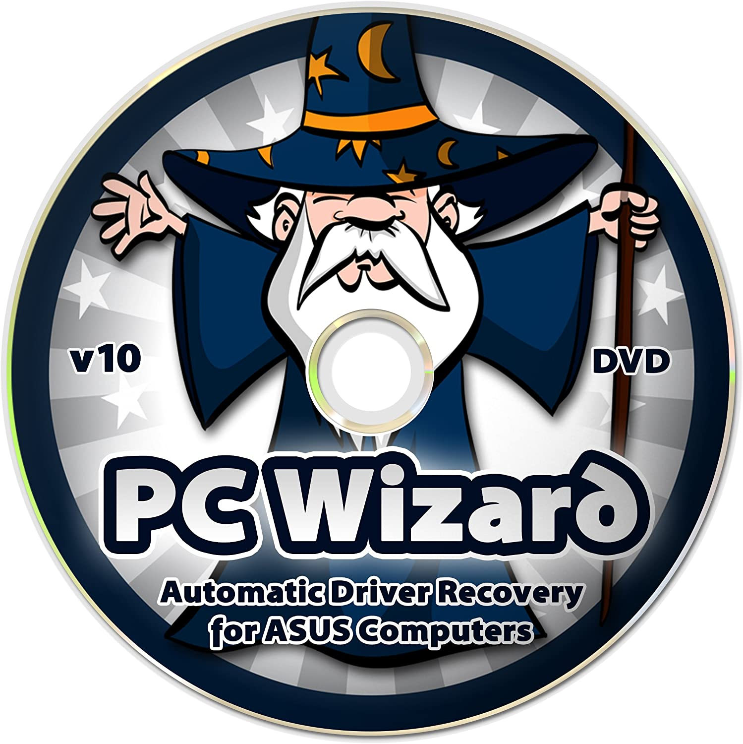 PC Wizard - Automatic Drivers Recovery Restore Update for ASUS Computers (Desktops and Laptops) on DVD Disc - Supports Windows 10, 8.1, 7, Vista, XP (32-bit & 64-bit) - Supports All Hardware Devices