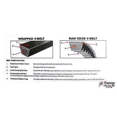 Rubber A//4L 1//2 x 30 OC D/&D PowerDrive A28//4L300 V Belt