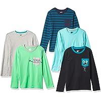 Spotted Zebra 5-Pack Long-Sleeve T-Shirts Niños, Pack de 5