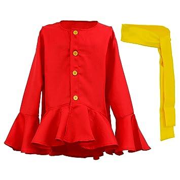 One Piece Monkey Luffy Disfraz Camiseta Rojo Cinturón Anime Cosplay ... 5d8204464cc