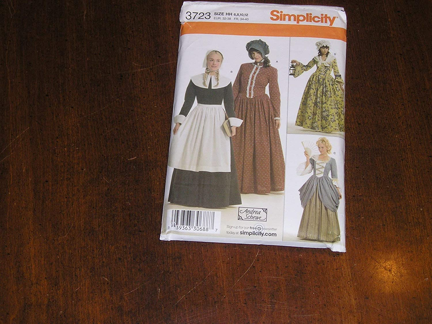 Simplicity Historical Dresses Sewing Pattern Costumes for Women by Andrea Schewe Sizes 14-16-18-20-22