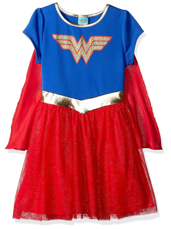 - 81Fek8AN4NL - DC Comics Little Girl Costume Dress Up Wonder Woman or Supergirl Ages 2-6