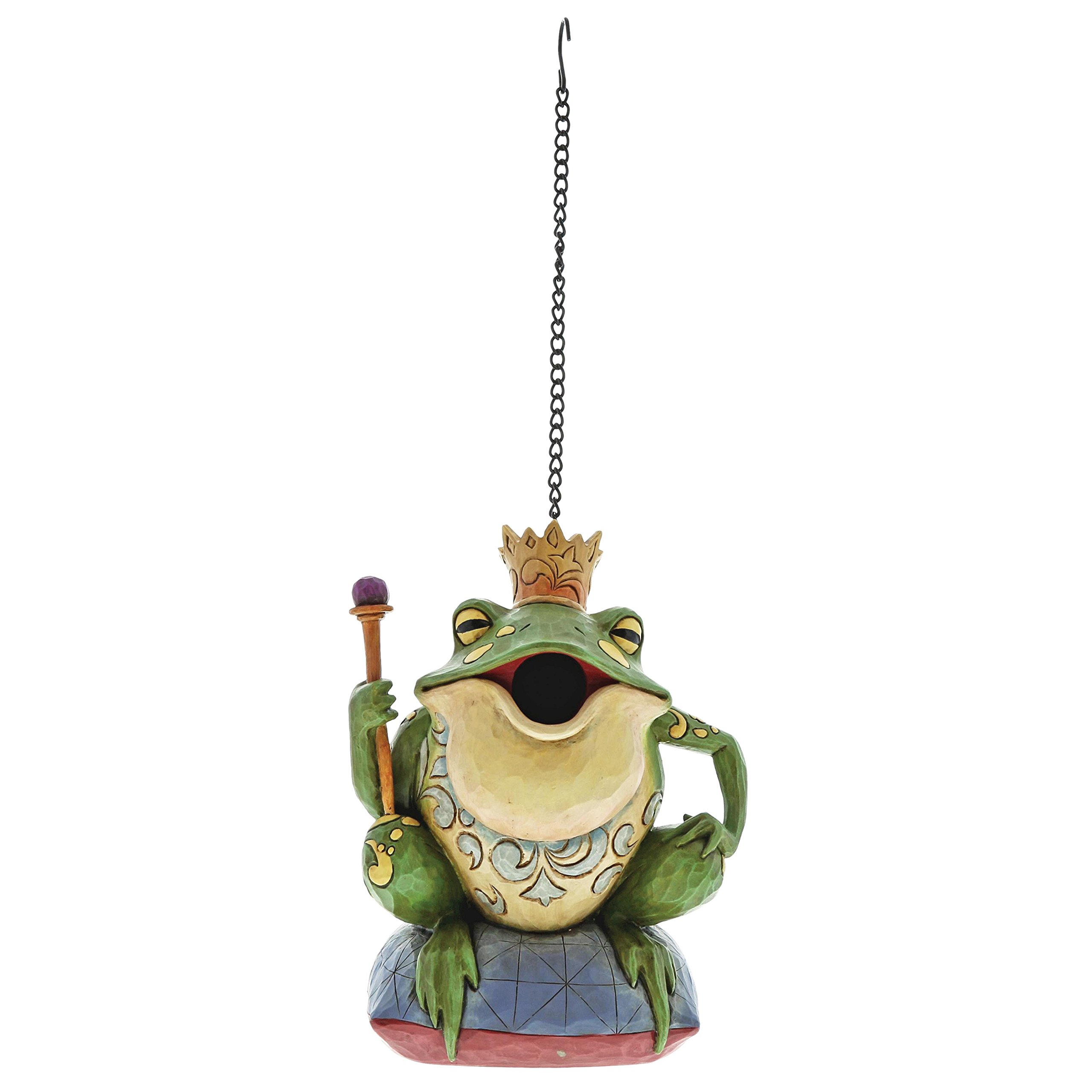 Enesco Frog Prince Birdhouse 8.75 Inches Height x 4.75 Inches Width x 6.5 Inches Length Stone Resin Collectible Figurines
