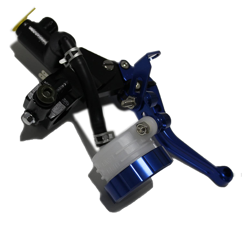 sclmotor® Azul motocicleta Power Sports 7/8 lateral freno Master Cilindro palanca ajustable Freno Klamm palanca: Amazon.es: Coche y moto