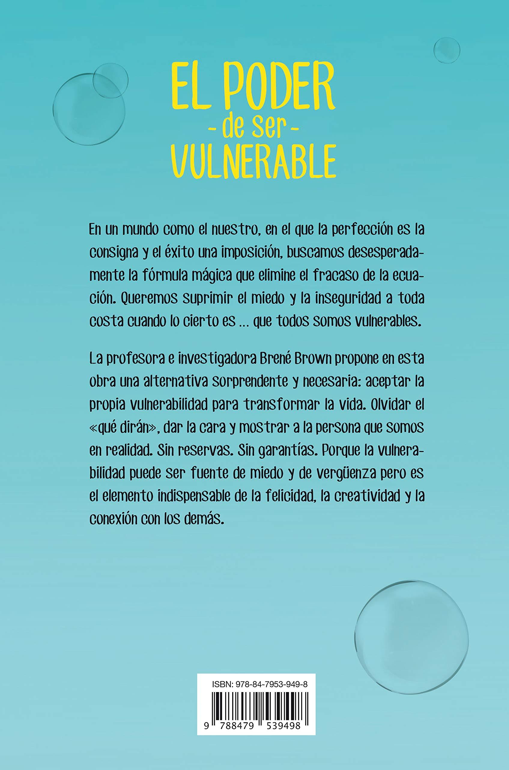 El poder de ser vulnerable (Crecimiento personal): Amazon.es: Brené Brown,  Alicia Sánchez Millet: Libros
