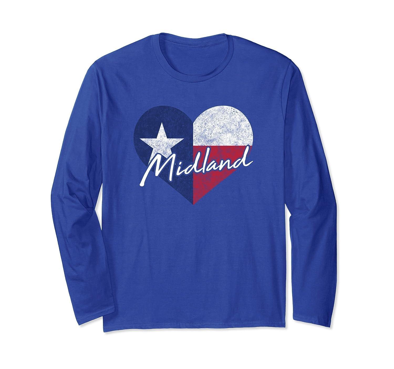 I Love Midland Texas Heart Shirt State Flag Gift-fa