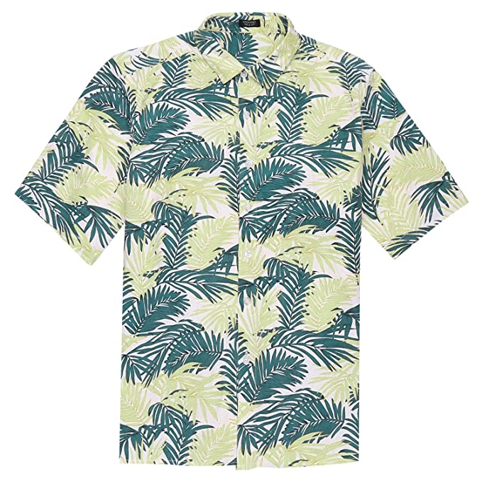 517aeacd2b4b Image Unavailable. Image not available for. Color  COOFANDY Men s Hawaiian  Summer Beach Shirt Short Sleeve Button Down Shirts