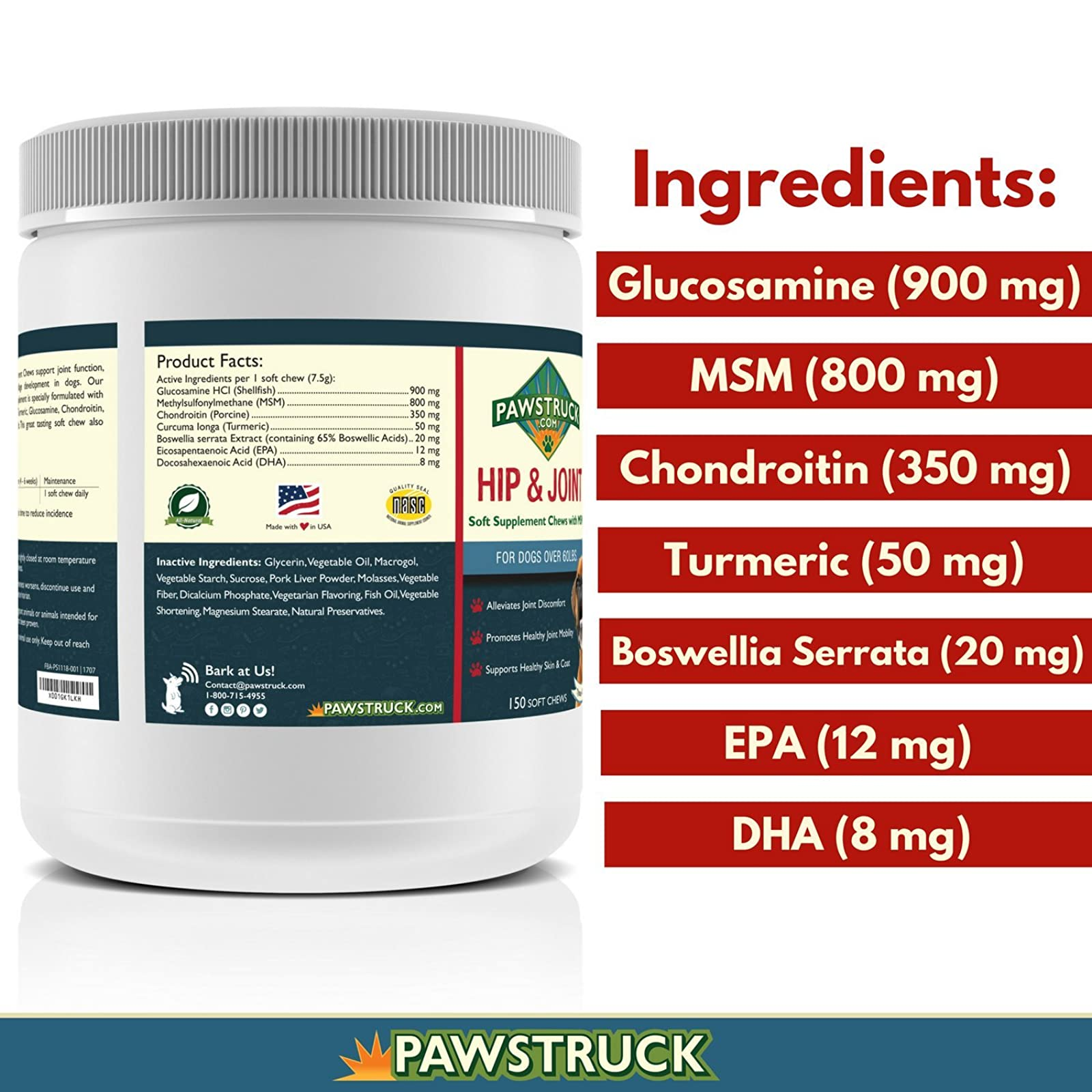 Natural Hip and Joint SupplementDogs in Bulk - - 3