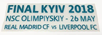 Champions League Final KYIV 2018 Match Details Real Madrid vs Liverpool - Camiseta de fútbol con