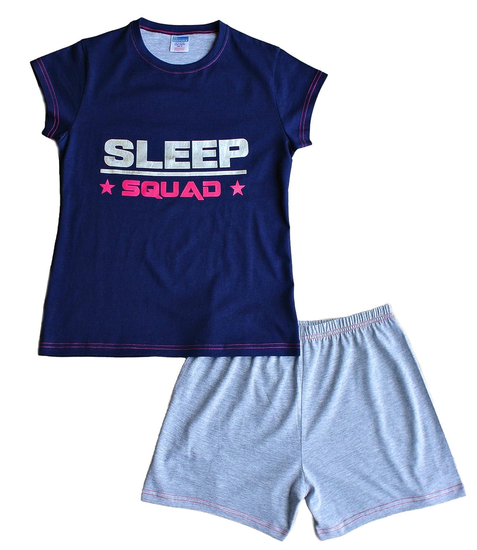 ThePyjamaFactory Teenage Girls Pyjamas Sleep Squad Short Pjs 9 to 16 Years