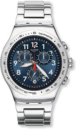 Swatch YOS455G - Reloj Cronógrafo de Cuarzo, Correa de Acero Inoxidable, Unisex: Amazon.es: Relojes