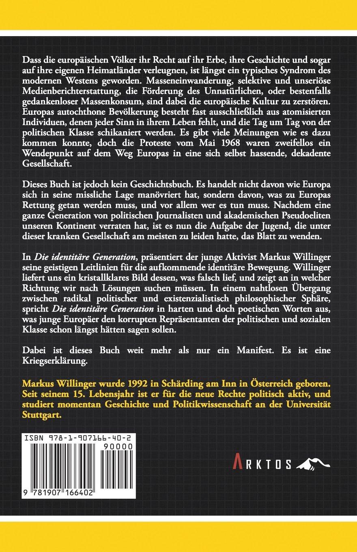 Die identitäre Generation (German Edition): Markus Willinger ...
