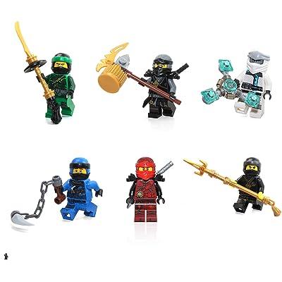 LEGO Ninjago Masters of Spinjitzu Combo Foil Pack - Set of 6 Minifigures (Lloyd, Jay, Cole, Zane, Kai, and Nya): Toys & Games