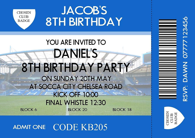 Boy S Football Themed Birthday Party Invitations Cards Any Team Size A6 30