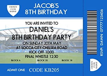 Image Unavailable Not Available For Colour Boys Football Themed Birthday Party Invitations