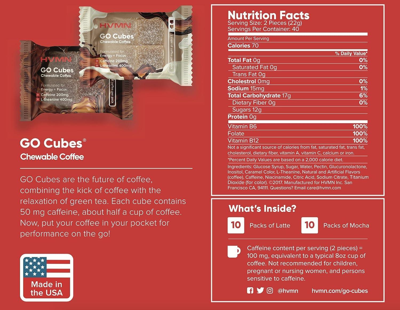 Go Cubes Cubos masticables de energía: Amazon.com: Grocery ...