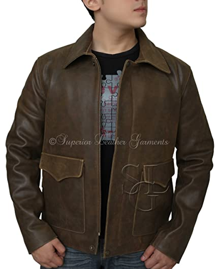 Men Jacket Indiana Jons Harrison Ford Classic Genuine Cow Hide Leather  Jacket (XS - For fc03af68fb6a