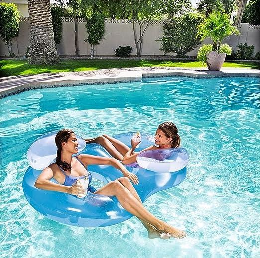 Bestway Colchón de aire doble Sillón de natación pool 36102 Agua ...