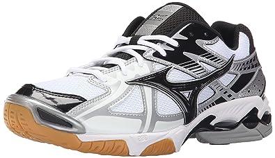 Mizuno Men's Wave Bolt 4 WH-BK Volleyball Shoe, White/Black, 7